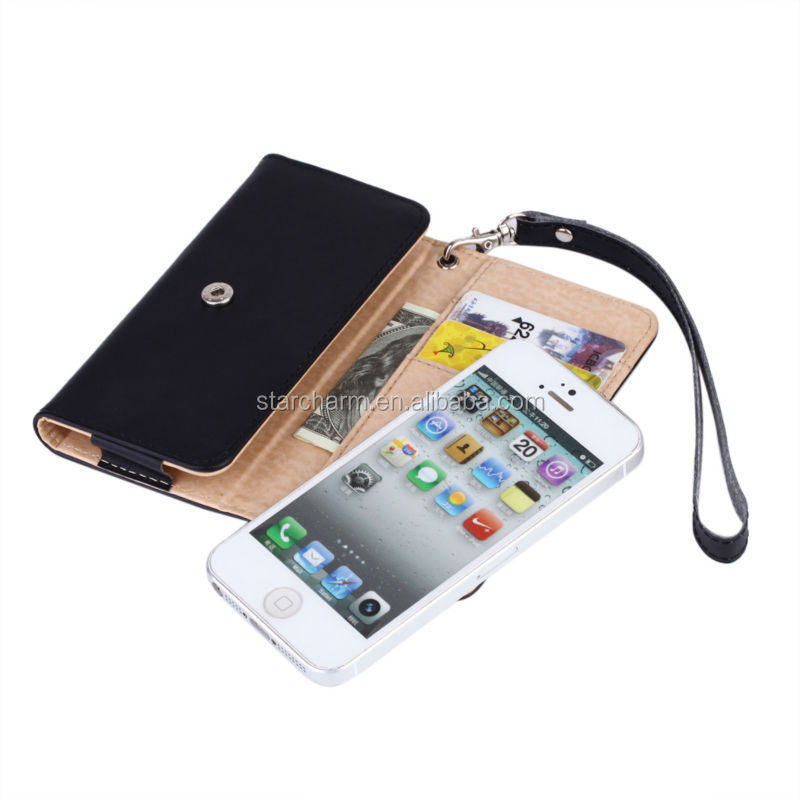 Mobile Phone Accessores,Shenzhen luxury High Quality Case Wallet Purse Real Leather Case for iphone 5/5S