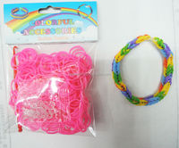 pink color 200 pieces packing mini Rubber Bands for Bracelet
