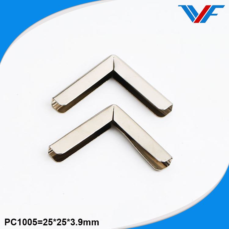 Mini plated custom metal book corner protectors