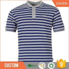 wholesale cheap oem man/woman striped polo t shirt
