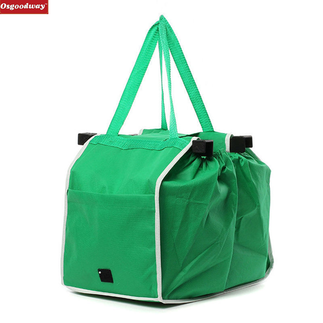 Osgoodway New Product Eco-friendly Reusable Large Foldable Shopping <strong>Bag</strong> Non woven Handbags Tote <strong>Bag</strong> For Supermarket trolley