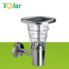 Hot selling high brightness solar garden wall lights outdoor standing lamps