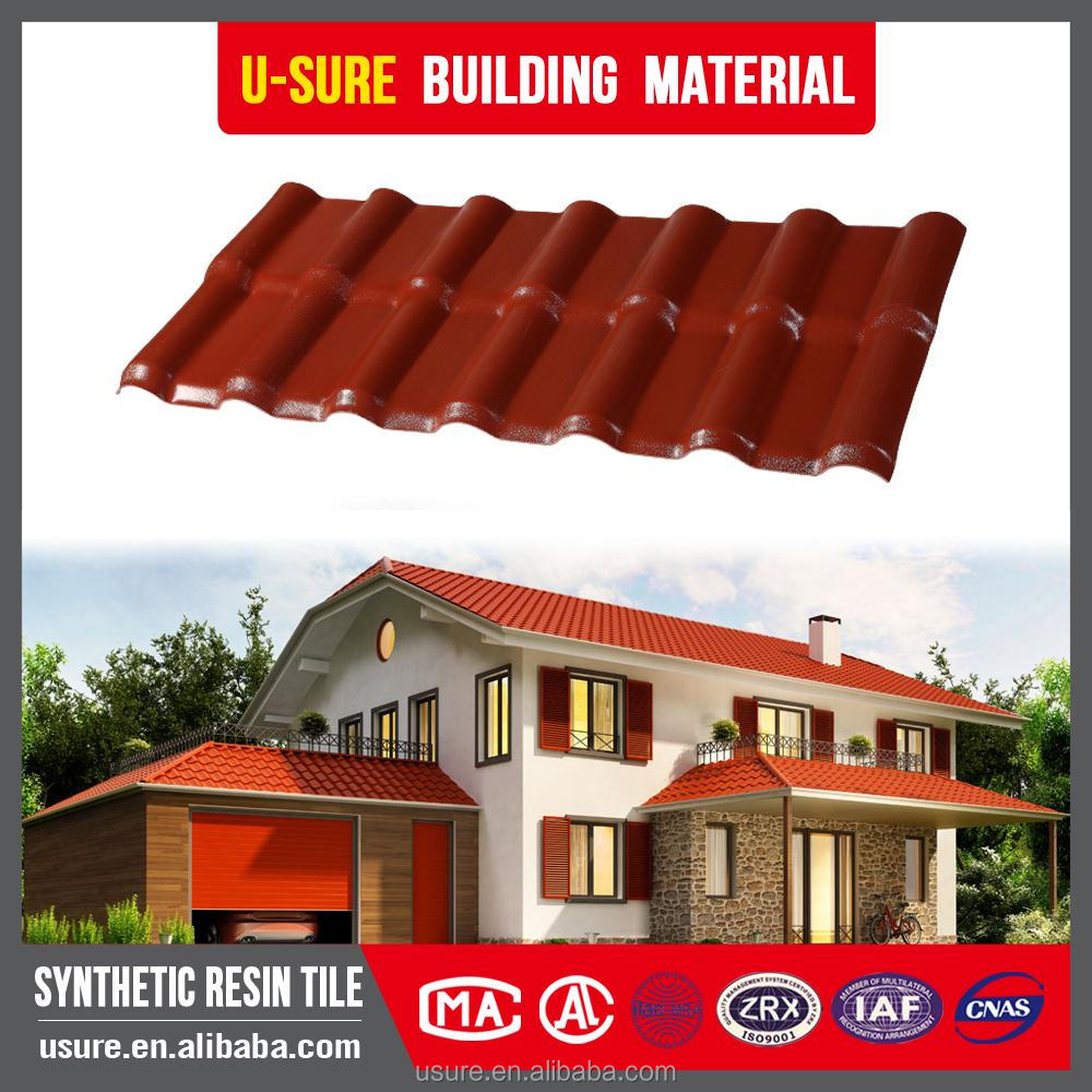 3.0mm thickness New style Faux Terracotta Roof Tiles