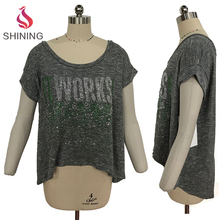 Wholesale Fashion Design loose bat wear t shirts custom printed women's t-shirt