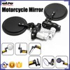 BJ-RM-024B Universal black CNC aluminum double adjust motorcycle mirror