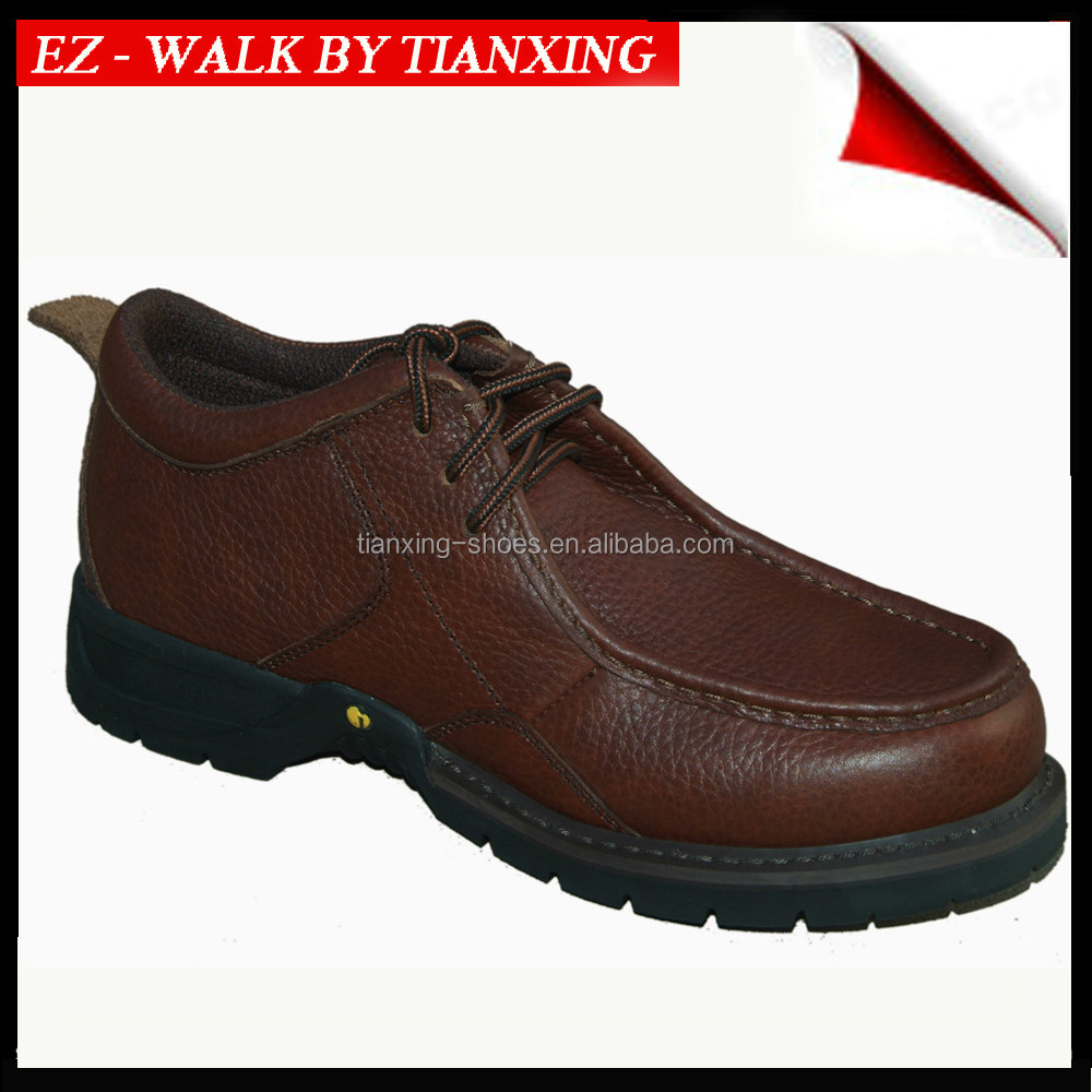 Fashion design leather safety shoes with steel toe