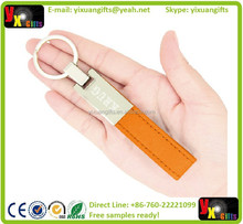 Classic Leather Metal Keychain with incredible features like rounded key ring