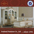 0057 Antique executive office furniture, classic hand carved office table and chair set