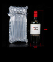 Popular giant plastic Red wine bottle air cushion bag