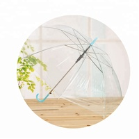 8k cheap plastic handle Clear Bubble PVC transparent Umbrella
