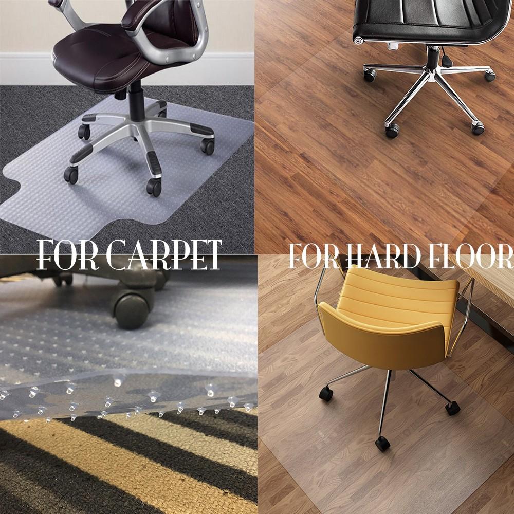 vinyl//stone// tile//wood// laminate 2MM Rolling PVC Chair Mat for Hardwood Floor