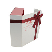 Take away paper box packaging personalised cardboard gift boxes with ribbon
