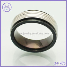 Promotional black Plated Stainless Steel Jewelry Graduation Class Finger Ring