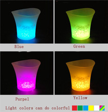 Luminous Led Ice Bucket/Bar Table With Ice Bucket