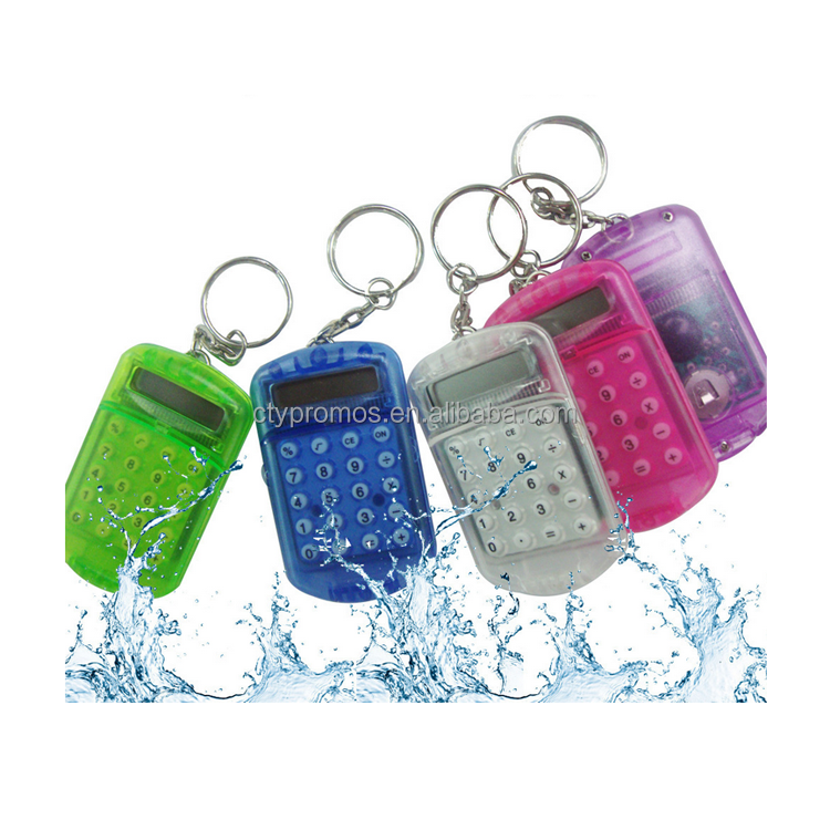 Promotional Giveaway Mini Small Size Tiny Key Chain Scientific Calculator With Keychain