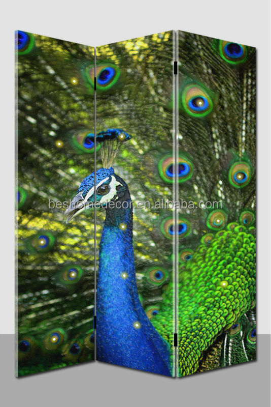 peacock portable folding commercial room dividers With led lights