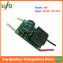high quality ac dc 12v 24v 3W 300ma constant current low voltage built-in led driver for led bulb spotlights