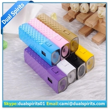 New design LED Light 2800mAh Mascara Cream Pattern Mobile Power Bank for iPhone htc Samsung supplier