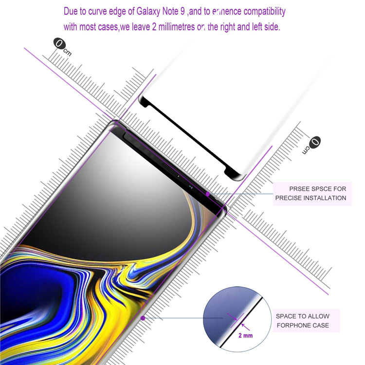 3D Note 9 screen protector,for galaxy Note9 tempered glass,Locator for easy installation