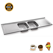 Double drainer double bowl kitchen sink big kitchen sink 2 bowl stainless steel sink with drainer YK1851A