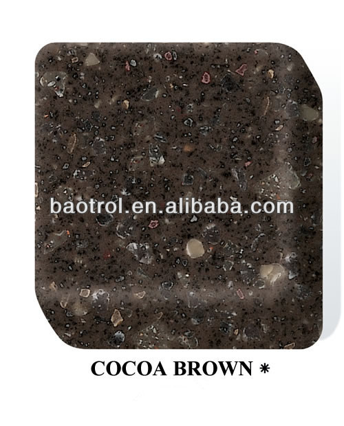 High quality acrylic solid surface cocoa brown sheets 12mm