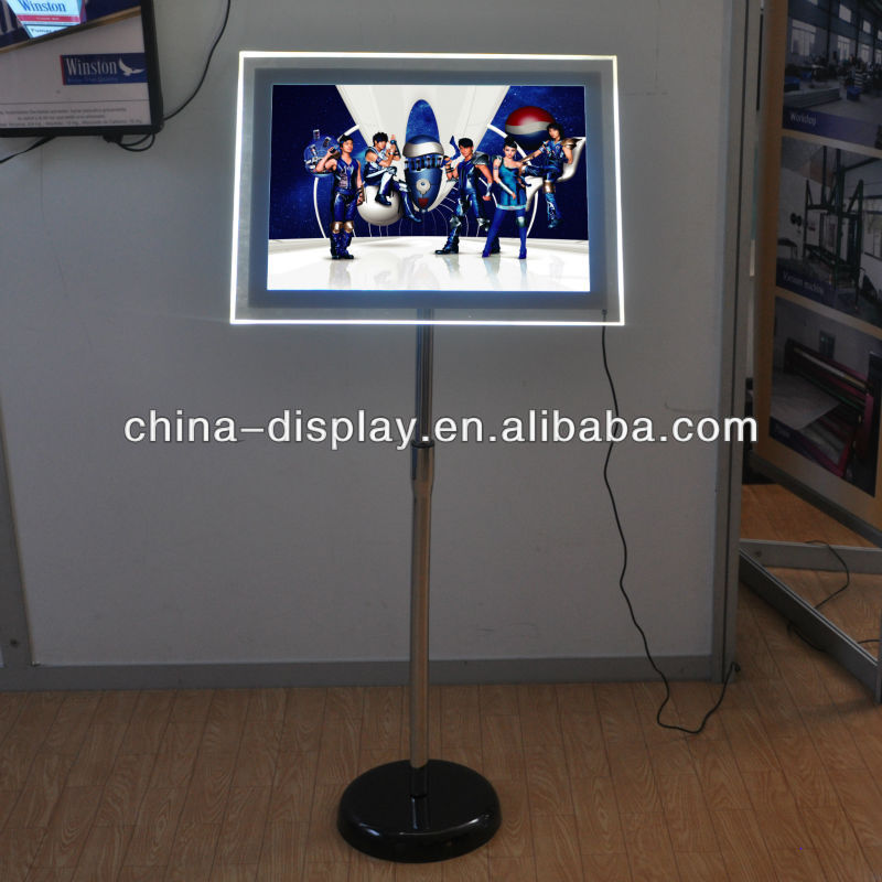 A3, A4 Transparent Acrylic Standing Light Box For Advertising