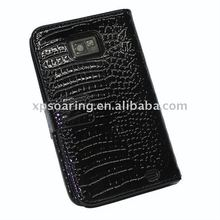 crocodile leather flip case pouch bag for Samsung Galaxy S2 i9100