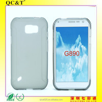 2015 new product Full Clear Transparent TPU Cover For Samsung Galaxy S6 Active G890 Case
