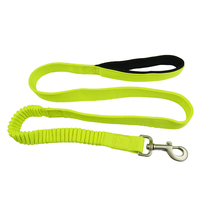 Large dog leash Elastic stretch buffer pet traction rope dog chain lead nylon strong foam Feel good Elasticity big dog belt