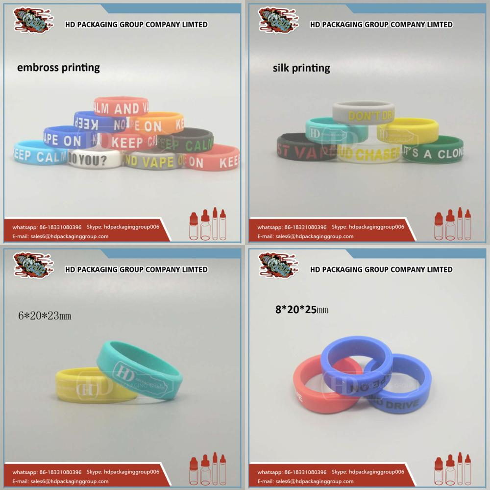 Chinese vaping supplies produce diameter silicone vape bands with customized