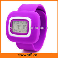 Promotional silicone slap wrist watch