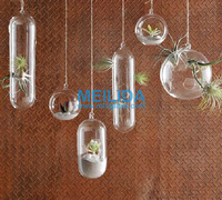 Different types hanging glass vase for decorate