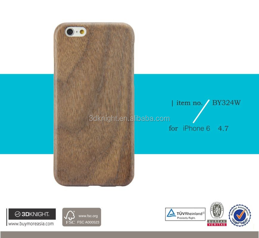 Laser Engraving Blank Custom Design Wholesale Cell Phone Cases For Iphone 6 Wood Case, Kevlar Wood Bamboo Cases