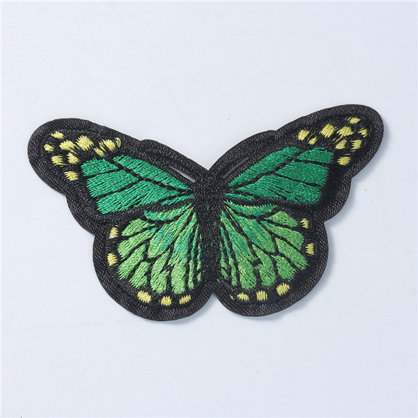 Fabric Appliques Patches DIY Scrapbooking Craft Butterfly Animal Green Flower Embroidery Patch For Clothes