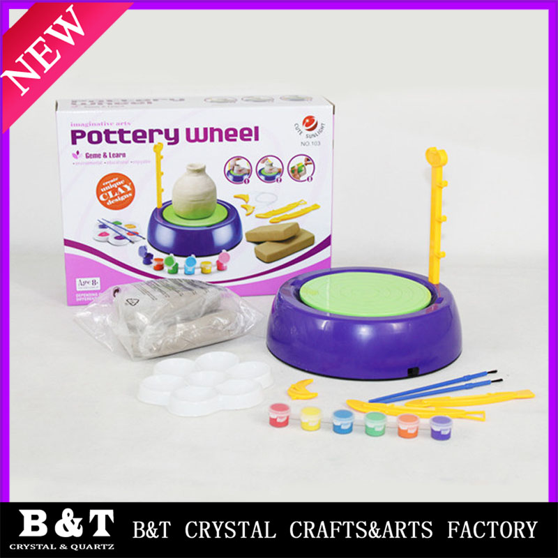 Creative toys for <strong>kids</strong> Educational DIY pottery wheel clay Pottery making toys
