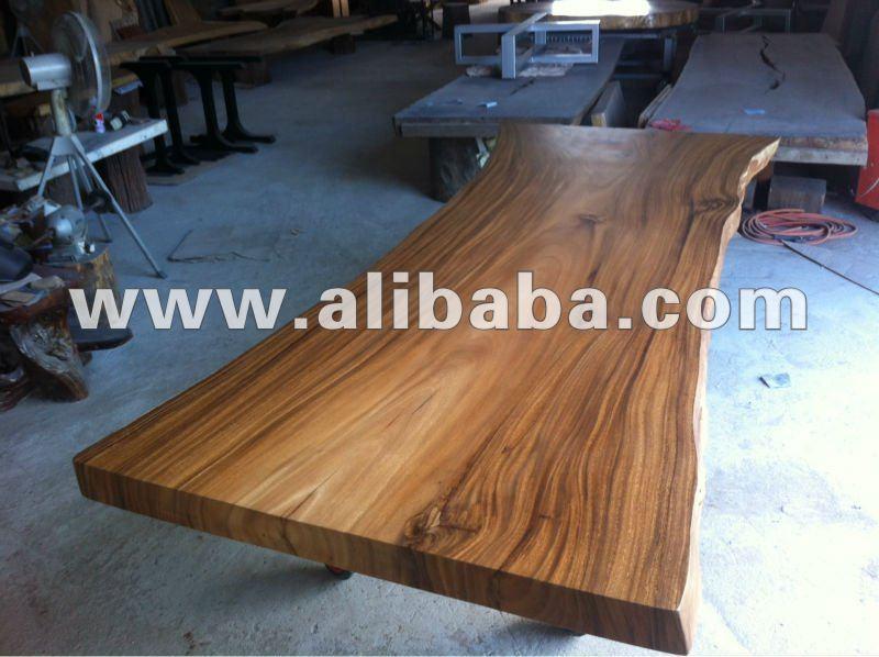 Acacia massello lastra di legno 3 metro tavolo da pranzo for Tavola da pranzo in legno