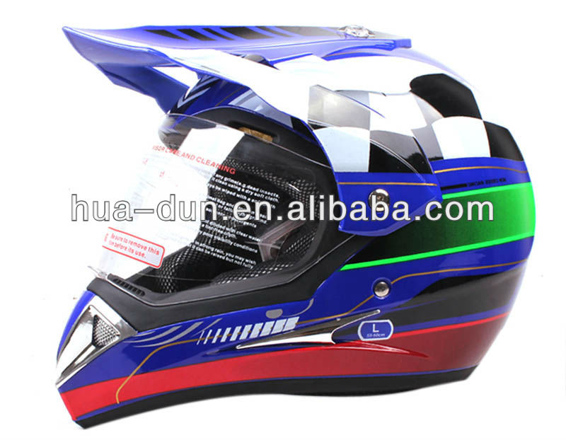 China approved off road ATV dual sport cross helmet with dot HD-803