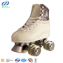 2018 Fashionable High Quality Children Sport Skating Shoes Durable Quad Roller Skate 4 flashing Wheel