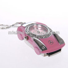 Jewelry usb real time clock usb flash drive clock, pink clock usb 2.0
