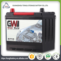 Battery charger for car factory mf 50ah Japan car battery brands