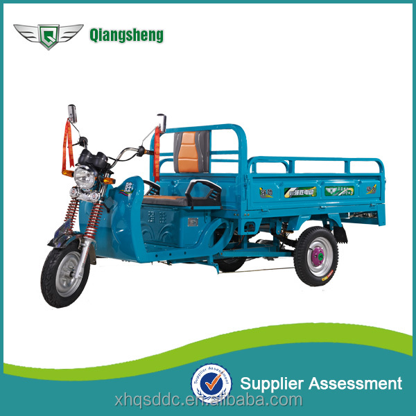 Qiangsheng 48v beyond 800w electric tipper cargo tricycle on sale
