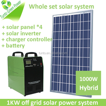 Compact design 1kw complete home solar power system include panel photovoltaic for Nigeria market