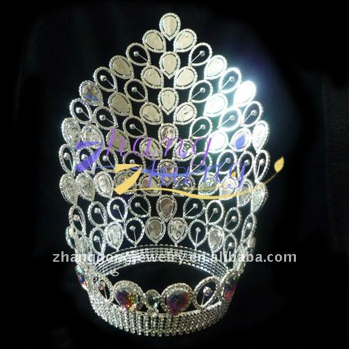 Hot Sale Large AB Crystal Pageant Tiara and Crown