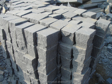 Different surface natural flamed tumbled G654 granite cheap paving granite cubes.