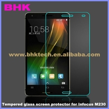 9H liquid nano high touch sensitivity Tempered glass screen protector for Infocus M230,Protective Membrane Toughened