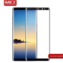 2017 Hot sale!!! High Quality Full Coverage 3D Curved Tempered Glass Screen Protector for Samsung Galaxy Note 8
