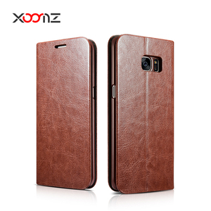 XOOMZ PU Leather Wallet Case for Samsung Galaxy S7 Edge Flip Cover with Card Holder Stand Function