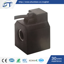 SHUNTE Wenzhou Low Price IP65 DC24V 20W Car Solenoid Valve Coil With Flying Leads