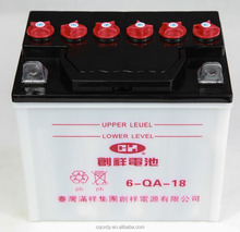 12V 18Ah Dry Charged Tricycle Battery, 6-QA-18 Three Wheel Battery
