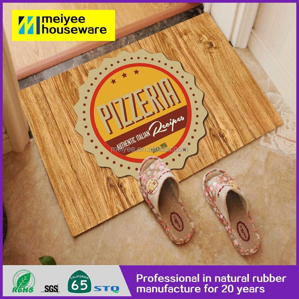 Anti-slip Natural Rubber Pizzeria rubber garage daycare floor mat
